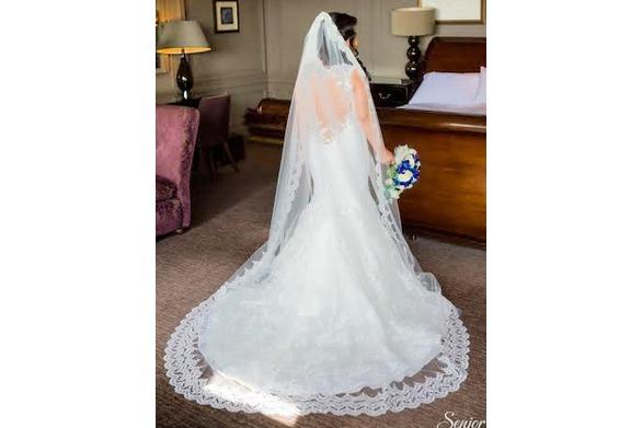 Part lace veil