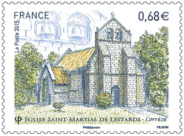 Timbre église saint-martial de Lestards