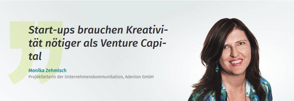 Start-ups brauchen Kreativität nötiger als Venture
