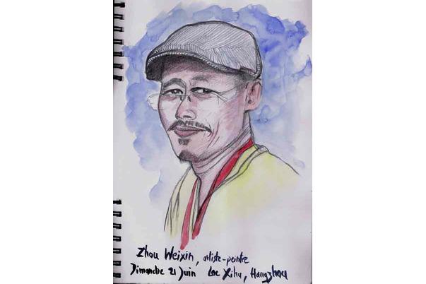 Zhou Weixin, artiste-peintre