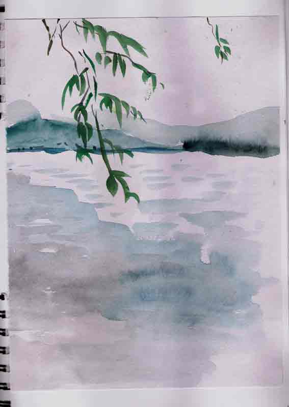 21 juin au bord du lac de l'ouest