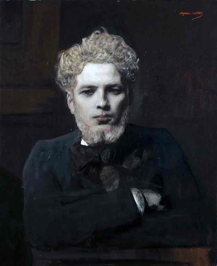 portrait de jeune homme barbu, dit l'albinos