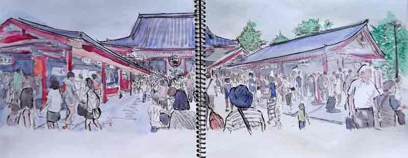 le temple Senso-Ji, Asakusa
