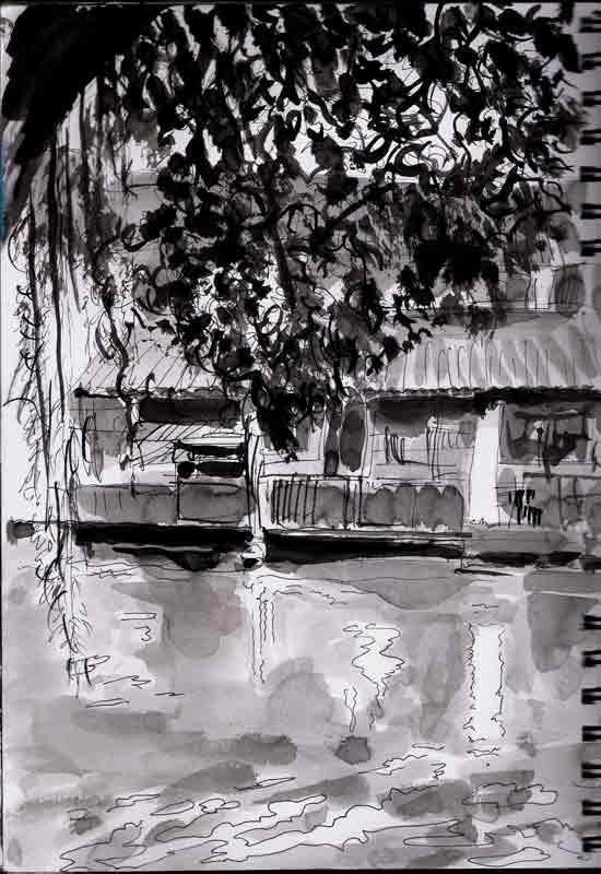la maison sur l'eau