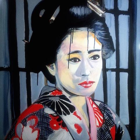 image de portrait à la peinture acrylique