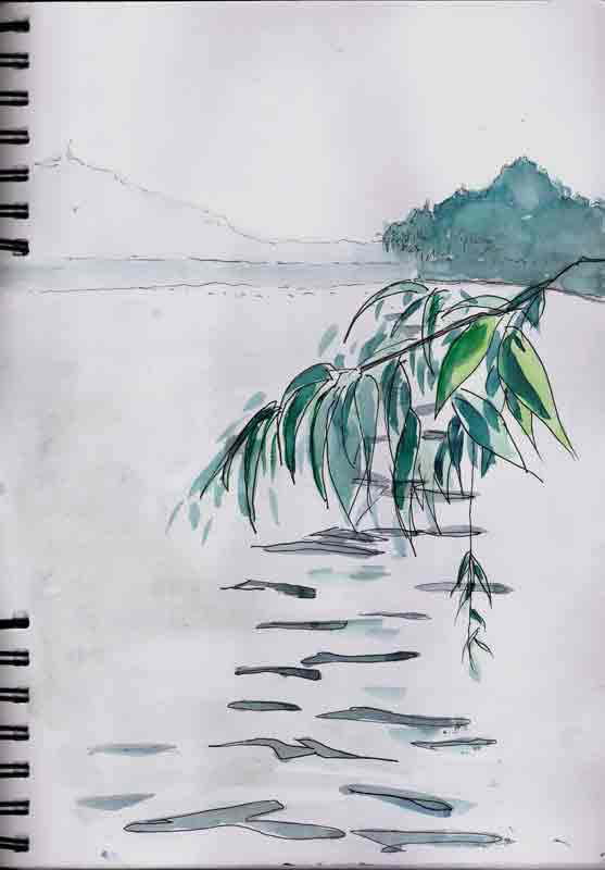 sur les bors du lac Xihu