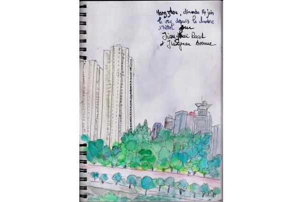 vue sur Jiangnan avenue