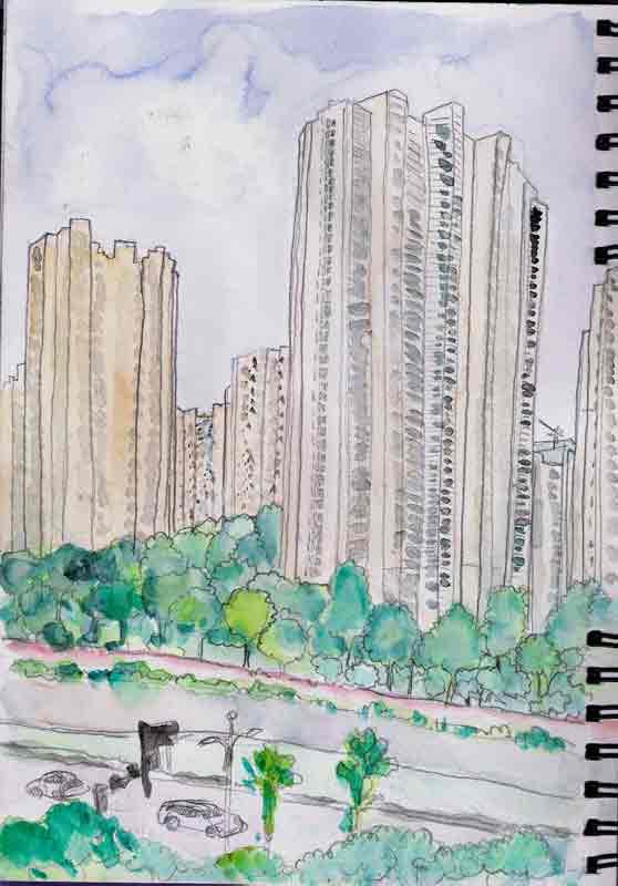 vue sur Jianghui Road