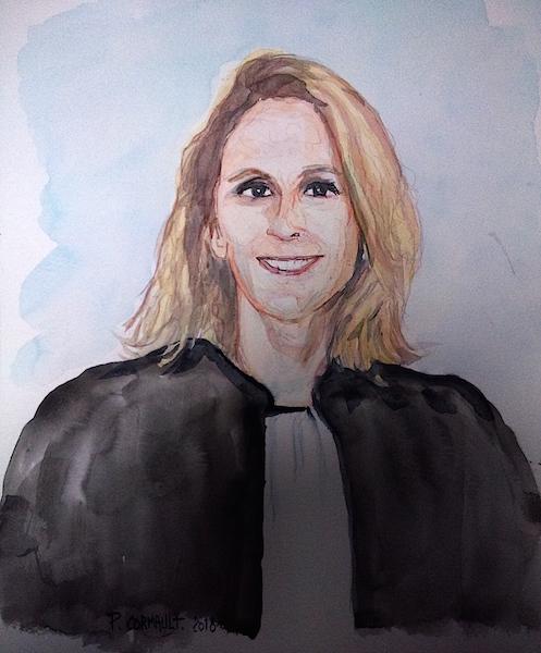 portrait à l'aquarelle