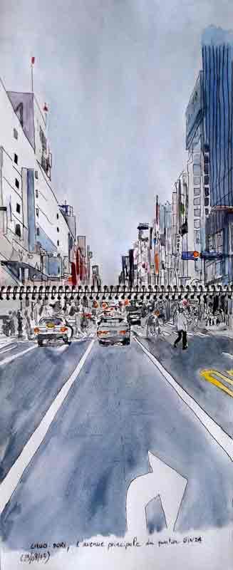 Chuo-Dori, l'avenue principale à Ginza