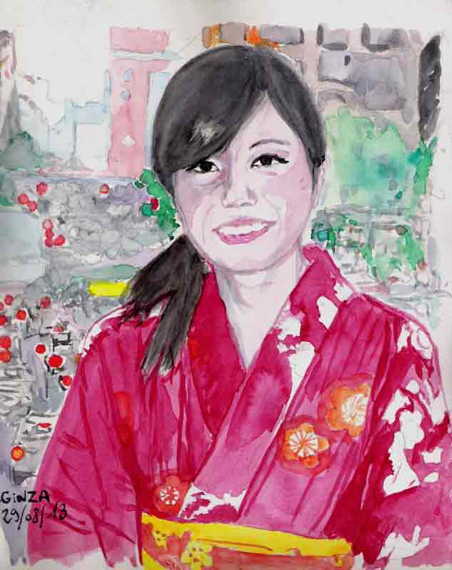 Kimono à Ginza