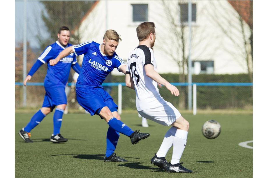 Luca Kämmer, wieder einer der stärksten Blauen.