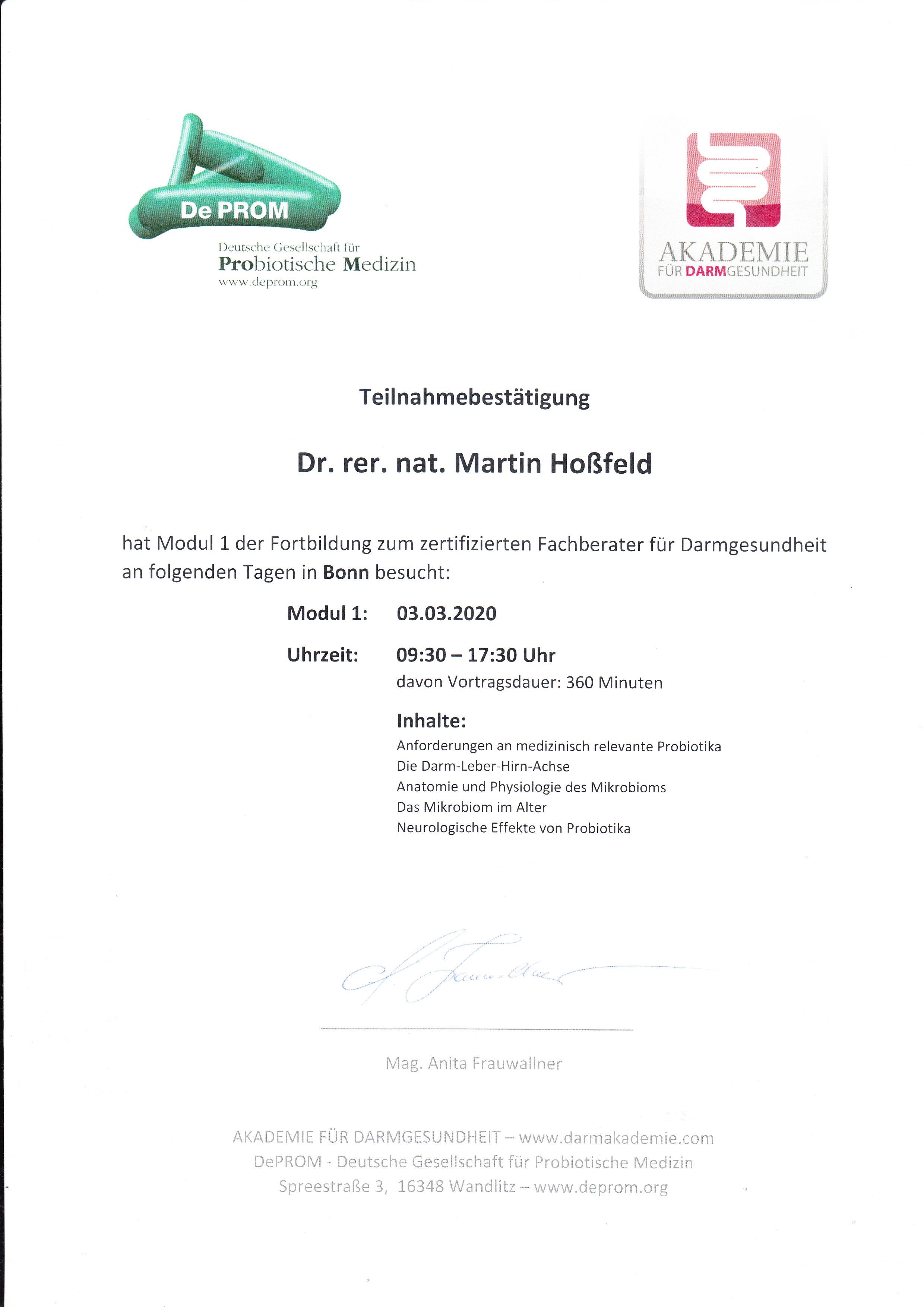 Fortbildung   Darmgesundheit Institut Allergosan M