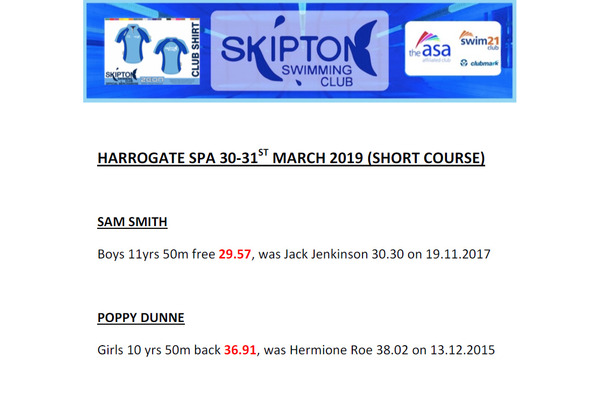 Skipton Swimming Club - Homepage - Home