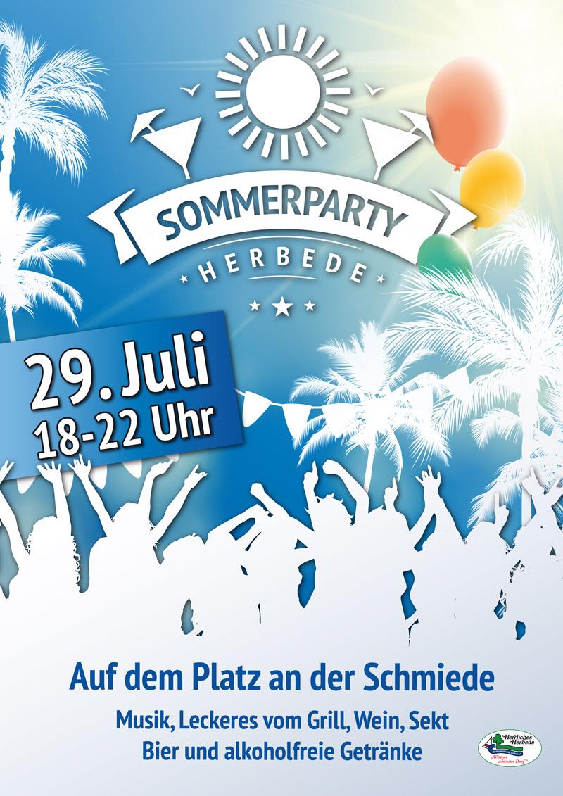 Sommerparty Herbede 2017 Plakat