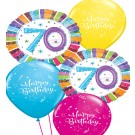 70th Birthday Balloon Bouquet (Choice of Design Colours)