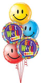 Get Well Smiley Face Balloon Bouquet