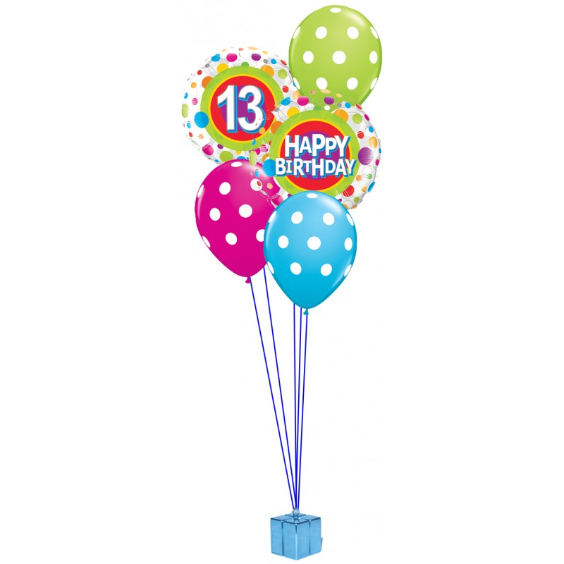 13th Birthday Balloon Bouquet (Choice of Colours)