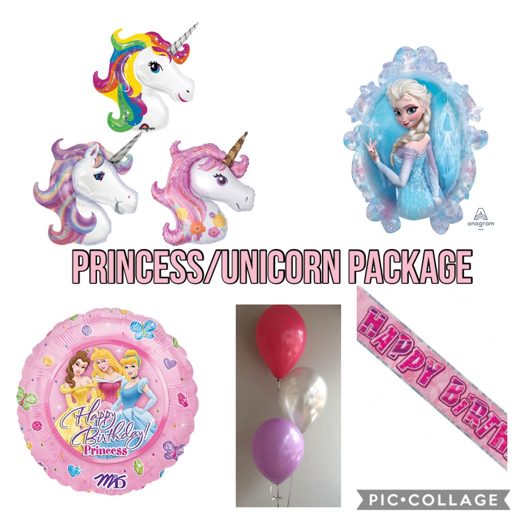 PRINCESS OR UNICORN PACKAGE