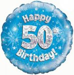 50th Birthday Balloon in a Box