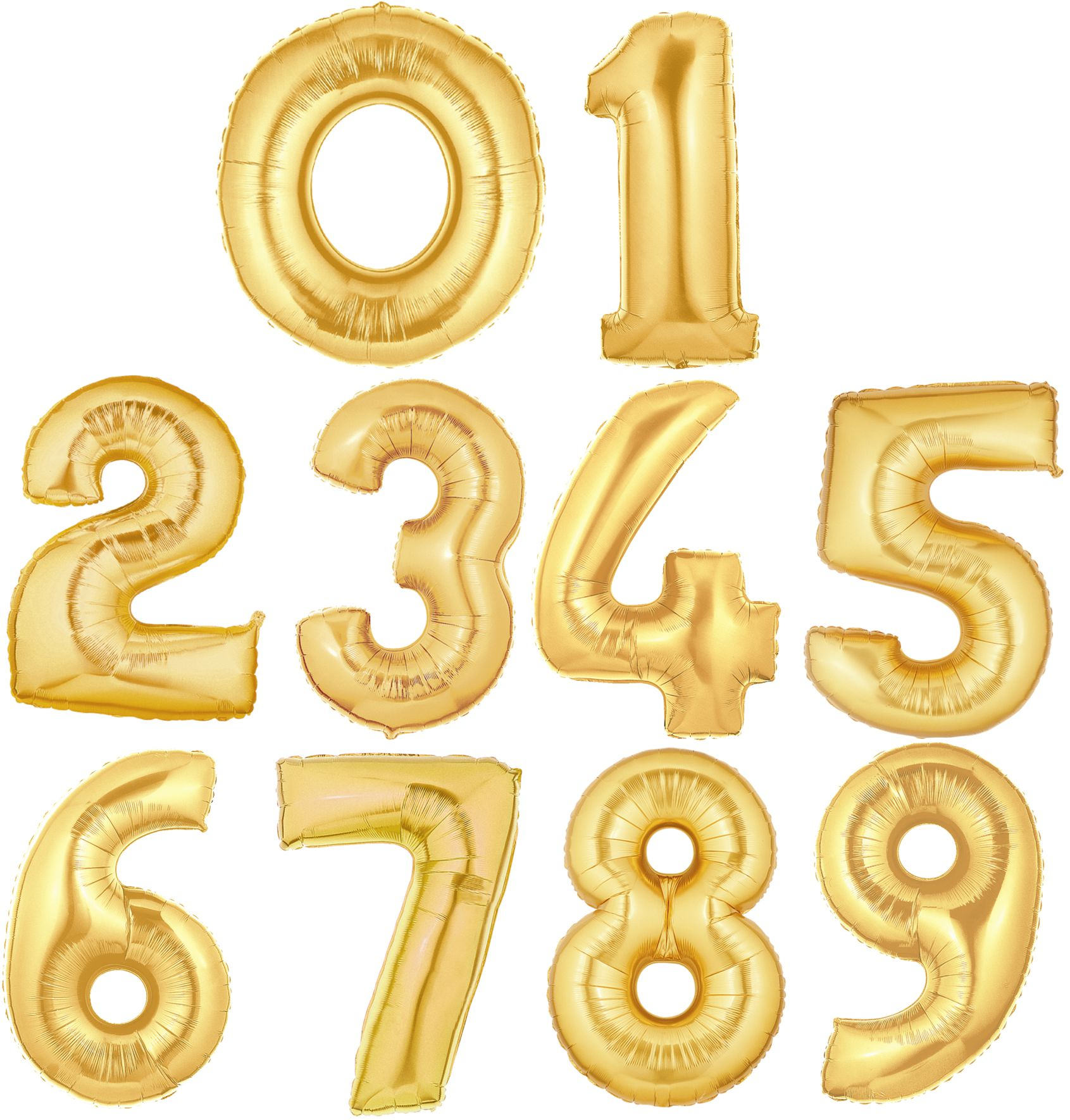 "Giant 34"" Gold Numbers"
