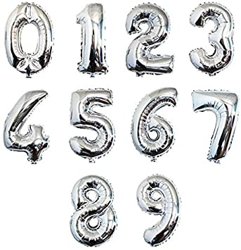 "Giant 34"" Silver Numbers"
