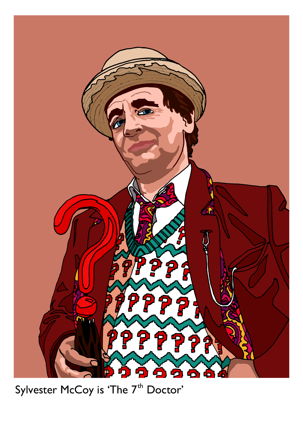 Sylvester McCoy is 'The 7th Doctor' - Limited edition print