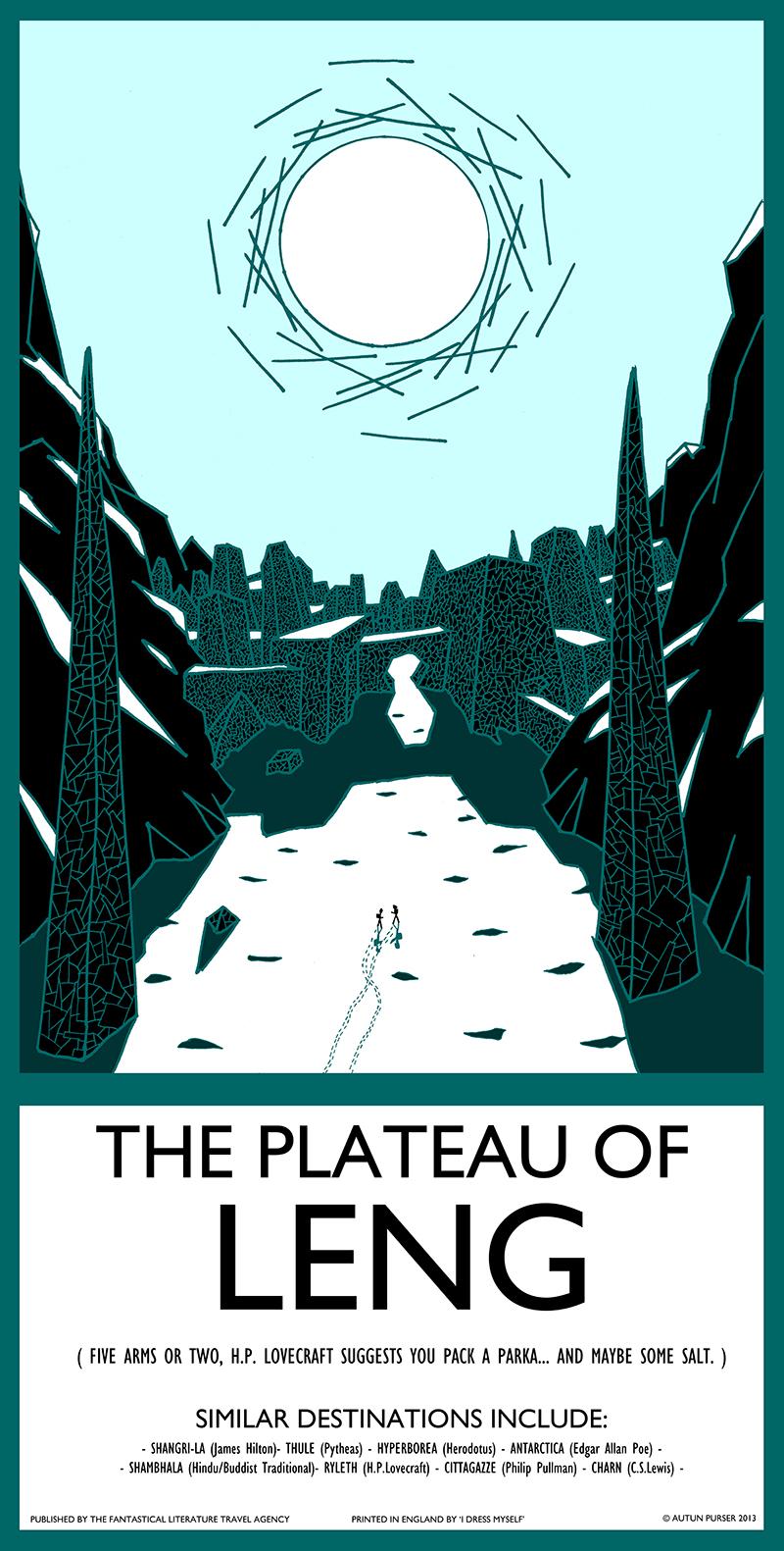 41: Plateau of Leng Screen Print
