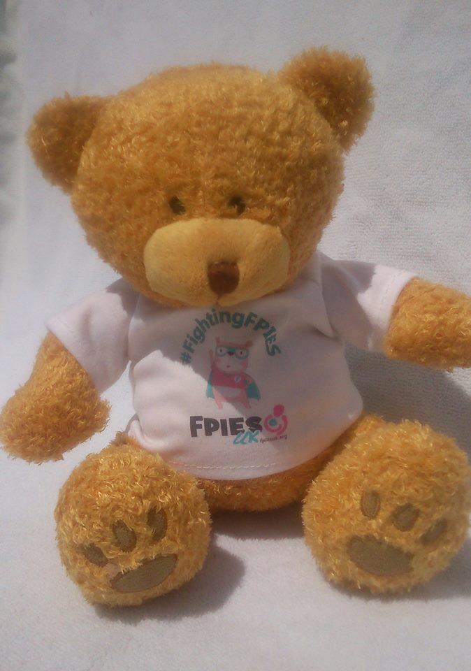Frankie Bear with printed T-shirt