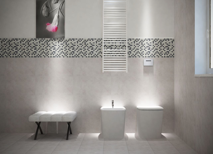 Piastrelle bagno grigio beautiful bagno moderno con parete fap