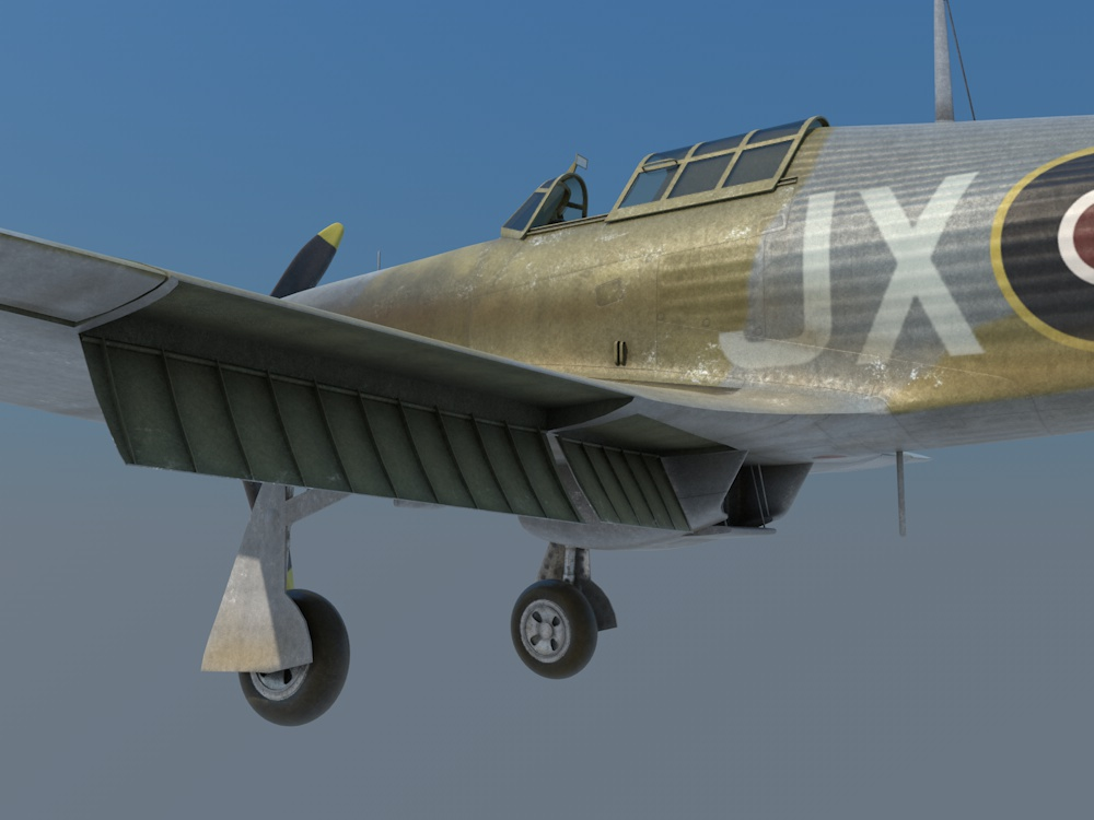 Hawker Hurricane Mk.II B/C 3D model