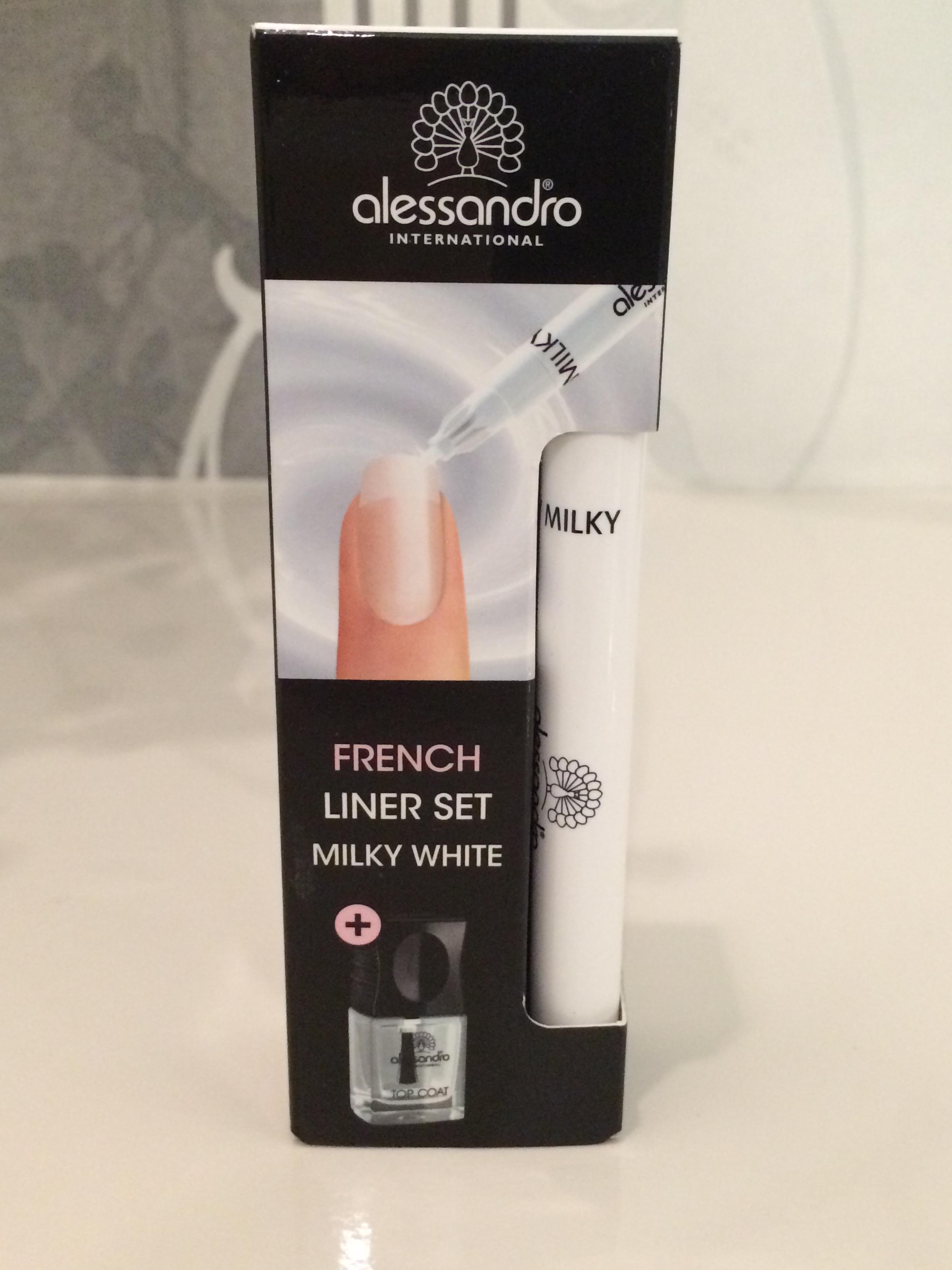 French Maniküre Liner Set-Milky
