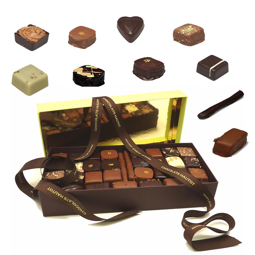Ecrin composé de bonbons de chocolat