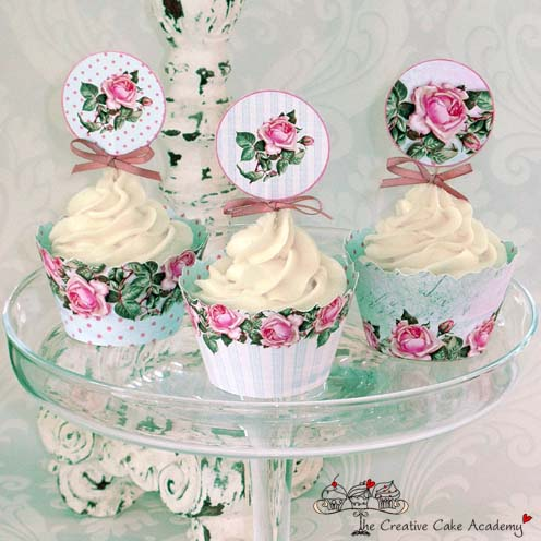 Rose Garden Cupcake Wrappers