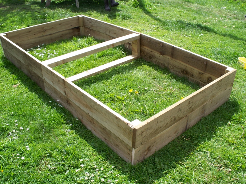 1 x Large 30cm high tanalised raised beds - 180cm or 240cm long