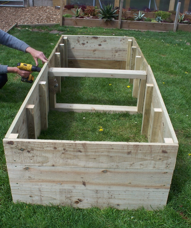 1 x Large 45cm high tanalised raised beds - 180cm or 240cm long