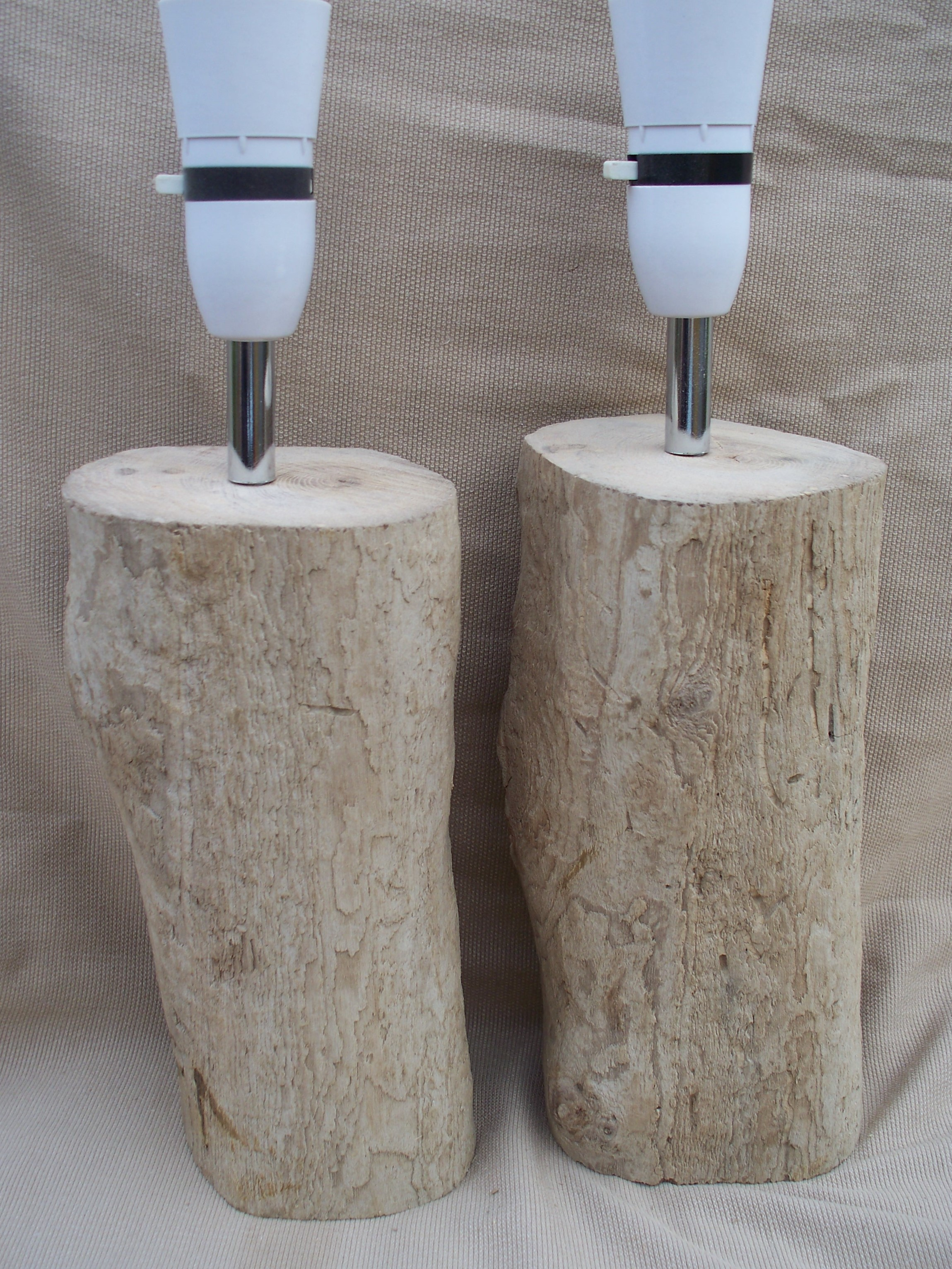 Matching Pair of Yorkshire Coast Driftwood Log Table or Bedside Lamp  DWL3