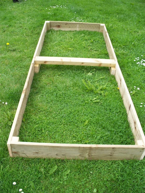 2 x 15cm high large tanalised raised beds, 180cm or 240cm long