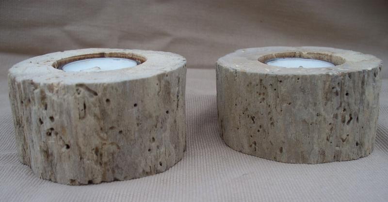 Pair of driftwood Tea light holders TL3
