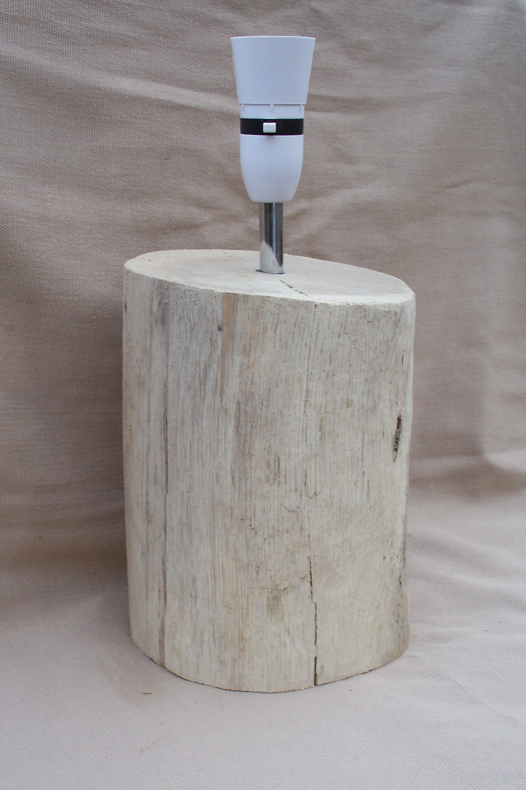 Large Chunky Yorkshire Coast Driftwood Log lamp, Table or Bedside Lamp Bespoke DWL2