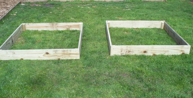 2 x 15cm high tanalised raised beds / garden border