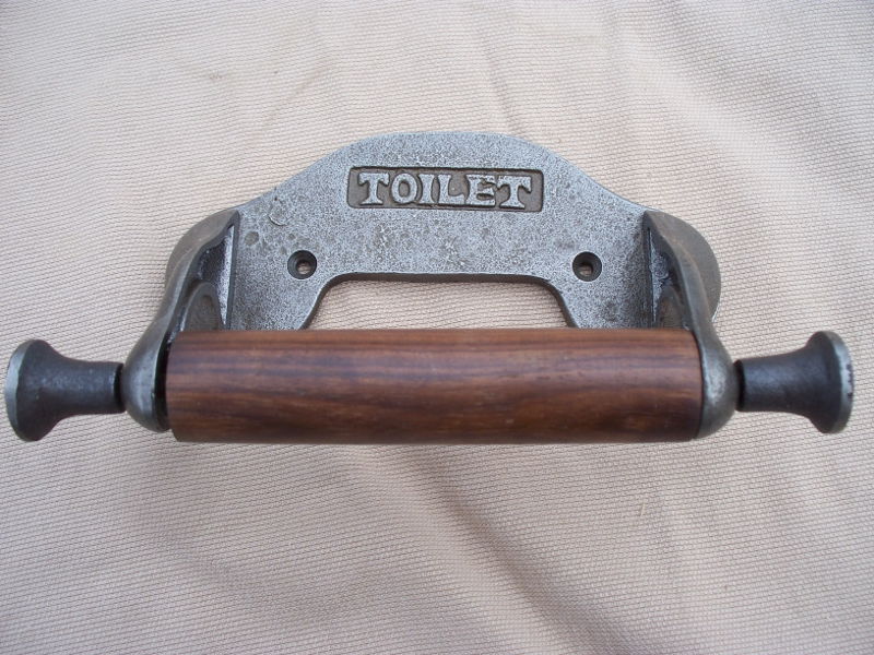Vintage design toilet roll holder in antique iron finish