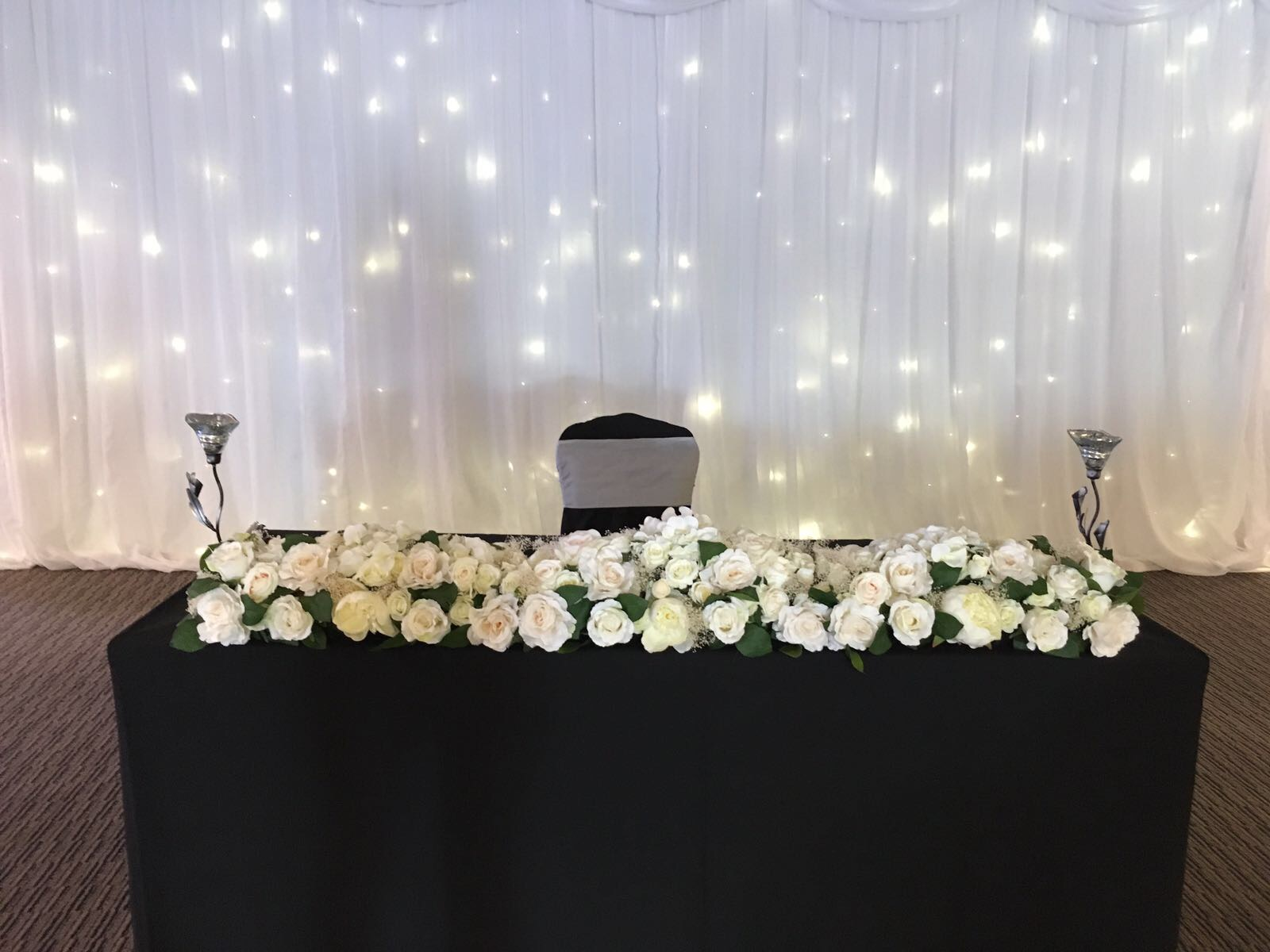 Top table display 150 cm - Hire