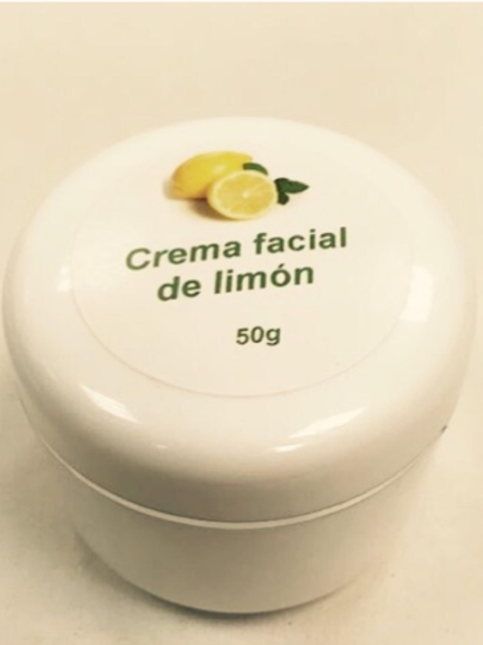 Crema facial de limón