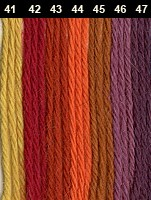 Alpaka Fino - Bild 2 - gelb / rot / violett