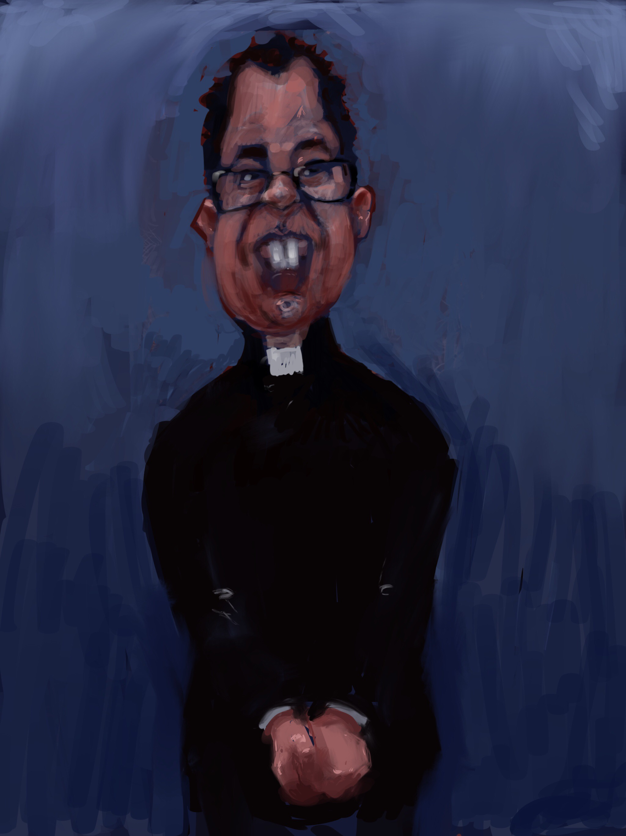 Painting of Richard Coles