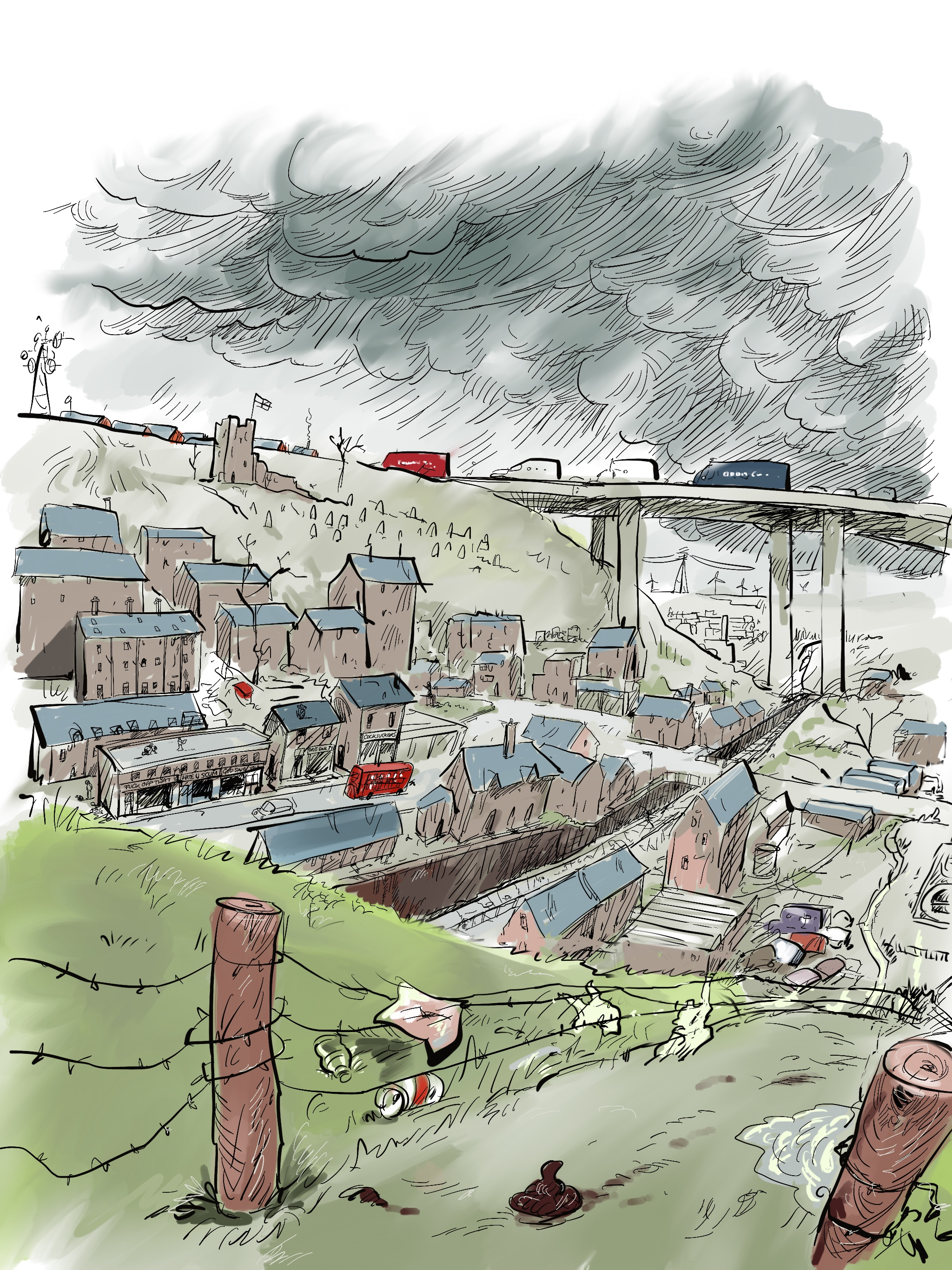 A sketch of a mythical English small town