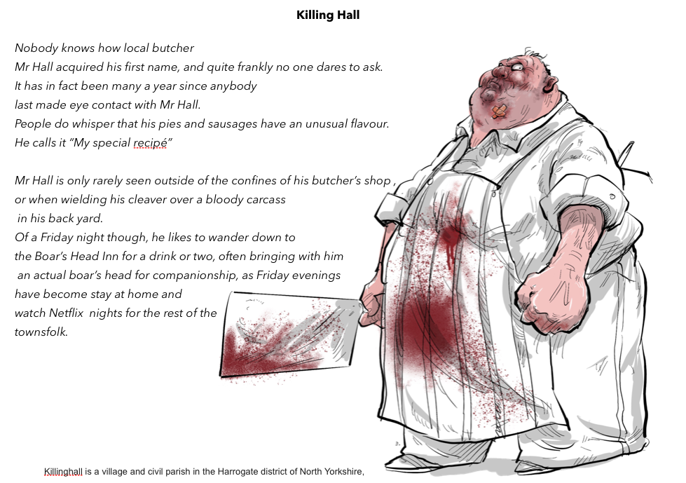 Killing Hall the village Butcher