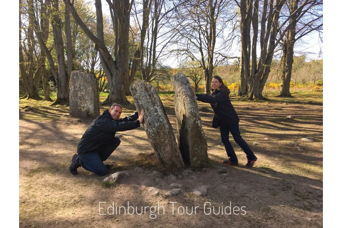 Split Stone at Clava Cairns on an Outlander Tour