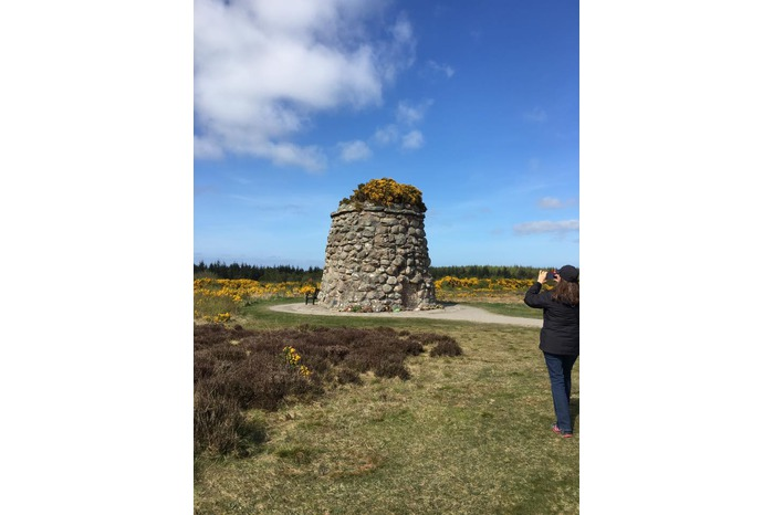 Culloden Memorial Cairn on an Outlander Tour
